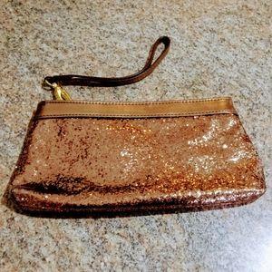 Minicci Bronze Glitter Clutch Purse